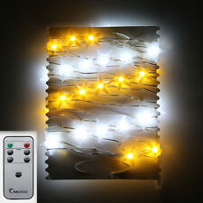 Solar Powered 3M 30LED Fairy String Lights Crystal Lamp Xmas Outdoor Lighting