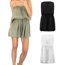 Sexy Off Shoulder Chest Wrapped Women Romper Bodysuit Casual Loose Jumpsuit