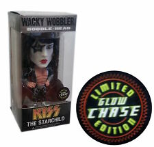 "Funko Kiss Paul Stanley ""The Starchild"" Wacky Wobbler Limited Glow Edition"