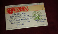Queen ticket Hungary Budapest 1986