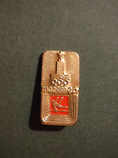Vintage SOVIET Russian Metal Pin Badge - Gymnastics 1980 MOSCOW OLYMPIC GAMES
