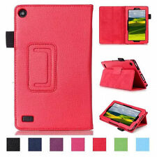 Folio Stand Holder Handle PU Leather Case Cover For Amazon Kindle Fire 7 & 8 UK
