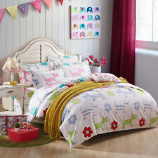 Zip Single Queen King Size Bed Set Pillowcase Quilt Duvet Cover Dog Puppy FitOZ
