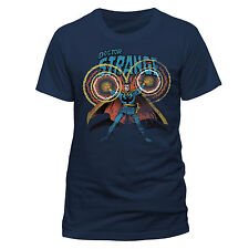 OFFICIAL MARVEL COMICS DOCTOR STRANGE COMIC STYLED NAVY BLUE T-SHIRT (BRAND NEW)