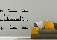 Cityscape Wall Stickers Major Cities of the World Vinyl Decal 15 Colours 01827
