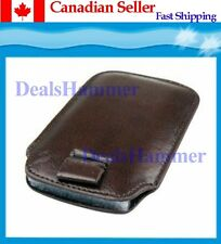 Leather Case For IPHONE 3G / 3GS / 4G IPOD Brown SHIP FROM CANADA