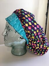 Bouffant Scrub Hat, Ponytail Surgery Cap, Women's Scrubs, Printed Hat