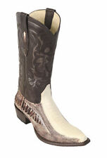 LOS ALTOS WINTER WHITE GENUINE SNIP TOE OSTRICH LEG WESTERN COWBOY BOOT (D)