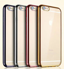 iPhone 6S Clear Silicone case  (coloured bumpers) **UK SELLER**