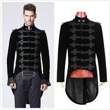 Punk Rave Y-593 Mens Black Velvet Goth Steampunk Victorian Tailcoat Jacket