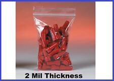 """1000 Reclosable Poly Plastic 2 Mil Ziplock Bags (5 to 9"""") - 35 Sizes Available"""