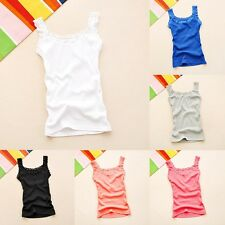 Women Sleeveless Lace Vest Blouse Sexy Summer Tank Tops Slim Cami Top Crop Tops