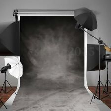 10/7x5FT Retro Black Grey Background Photography Backdrop Photo Studio Props