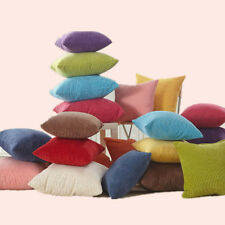 Decorative Corduroy Cushion Cover Square Color Pillow Case Sofa Throw Pillow