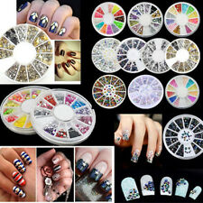 DIY Manicure Glitter Rhinestone Acrylic 3D Nail Art Tips Decoration Wheel Hot