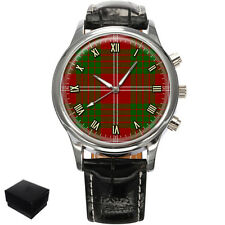 CRAWFORD SCOTTISH CLAN TARTAN GENTS MENS WRIST WATCH GIFT ENGRAVING