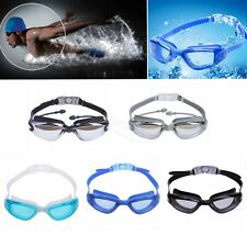 Unisex Swimming Glasses Anti-fog Goggles with Case Ear Plugs Nose Clip anti-slip