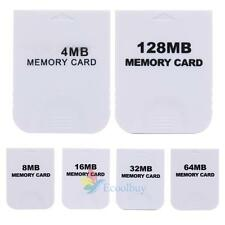 Practical Memory Card for Nintendo Wii Gamecube GC NGC Game White Gaming Console