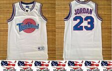 Michael Jordan #23 Tune Squad Space Jam Basketball Jersey White S-XL