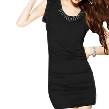Ladies Scoop Neck Sleeveless Flouncing Cuff Casual Tunic Shirt