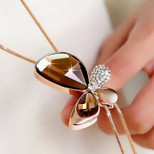 Necklace Sweater 1 PC Accessories Fashion Female Chain Butterfly Crystal Quality