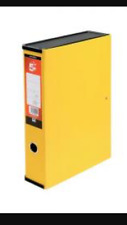 5 Yellow Box File Fits A4 & Foolscap Folders Paper Filing documents 33331X SP