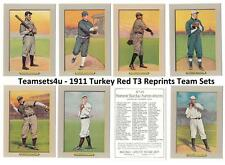 1911 Turkey Red T3 Reprints Baseball Set ** Pick Your Team **