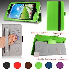"""For Acer Iconia One 7 (B1-750) 7"""" Premium Folio Case Cover Stand w/ Hand Strap"""