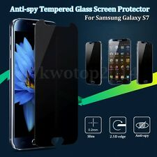 2/4pcs 9H Anti-Spy Privacy Tempered Glass Screen Protector For Samsung Galaxy S7