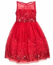 Crystal Doll Girls Sequin Illusion Pageant Birthday Party Dress (Color/size)