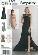Simplicity 8257 Misses' Dress and Gown   Sewing Pattern