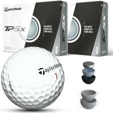NEW 2017 TAYLORMADE TP5X WHITE GOLF BALLS - PICK 2, 4, 6 DOZEN 5-PIECE BALLS