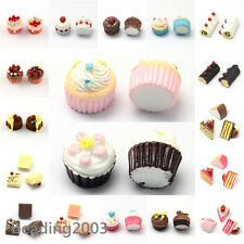 10pcs Cup Cakes Resin Cabochons Cute Dessert Flatback Cabochons Jewellery Making