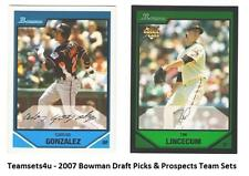 2007 Bowman Draft Picks & Prospects Baseball Set ** Pick Your Team **