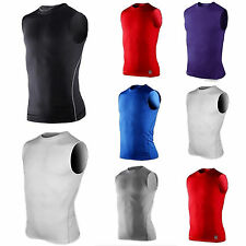 Mens Compression Base Layers Tight Tank Top Shirt Vest Sleeveless Sports T-Shrit
