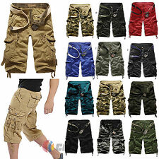 Mens Military Combat Camo Cargo Shorts Pants Work Summer Short Army Trouser