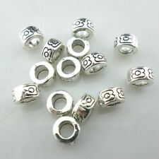 60/500pcs Tibetan Silver Hole 3.5mm Charm Spacer Beads Jewelry Findings Beading