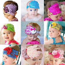Baby Girl Kids Infant Toddler Feather Headband Hair Band Hair Flower Healthy