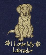 LABRADOR     EMBROIDERED PERSONALISED HOT WATER BOTTLE COVER 5 COLOURS BNWT