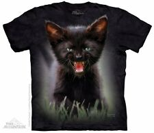 Black Kitten Pounce Princess Leia The Mountain Adult Size T-Shirt
