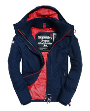 Mens Superdry Pop zip Hooded Technical Windcheater Coat Jacket rrp £75