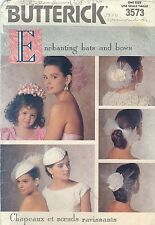 Butterick 3573 Enchanting Hats and Bows   Sewing Pattern