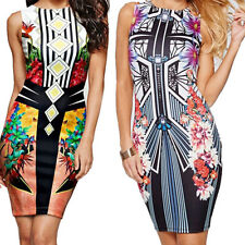 New Digital Package  Printing Pencil Dress Sexy Vest  Pen Nightclub Hip Mini
