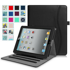 For Apple iPad 2/3/4 Folio Stand Case Smart Cover Corner Protection Multi-Angle