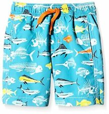 Hatley Boys' Fish Bones Swim Trunks - Choose SZ/Color