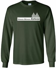 Azteca Airlines Vintage Logo Mexican Airline Long-Sleeve T-Shirt