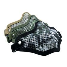 Strike Metal Mesh Mask Protective Mask Half Face Tacty Airsoft Military Mask2x