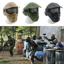 Safety Metal Mesh Protective Airsoft Military Tactical Full Face Goggles Mask2x