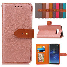 Luxury PU Leather Flip Card Wallet Case Cover Stand for Samsung Galaxy Models