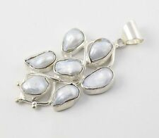 Beautiful Uneven Fresh Water Pearl Gemstone 925 Sterling Silver Handmade Stylish